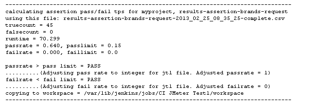 JMeter Pass Fail TPS are calculated at runtime and post