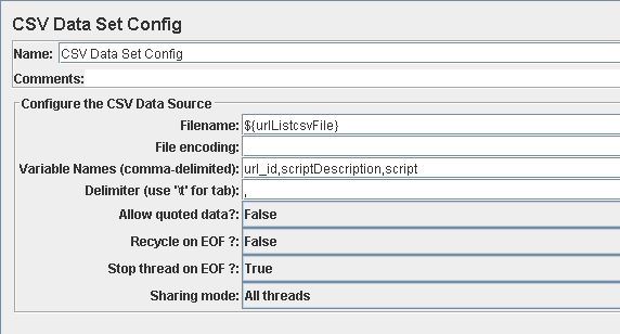 webPageTest Input data encoding and csv file building - allowing